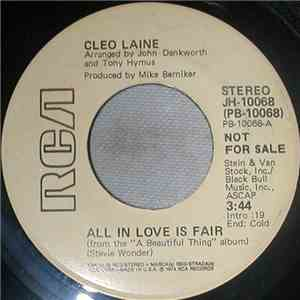 Cleo Laine - All In Love Is Fair mp3 download