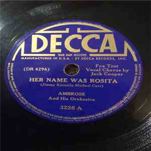 Ambrose & His Orchestra - Her Name Was Rosita/Ridin' Home mp3 download