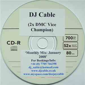 DJ Cable  - Monthly Mix: January 2008 mp3 download